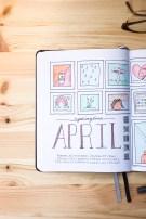 bullet journal april cover