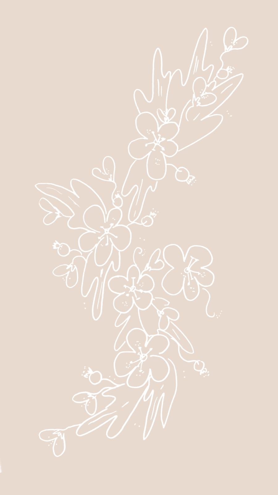 Hawthorn flower wallpaper