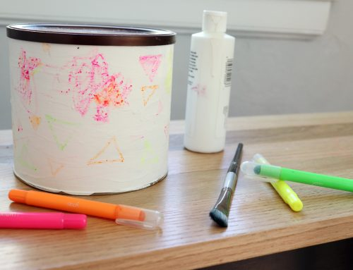 Easy Toddler Craft: Customized Coffee Canister