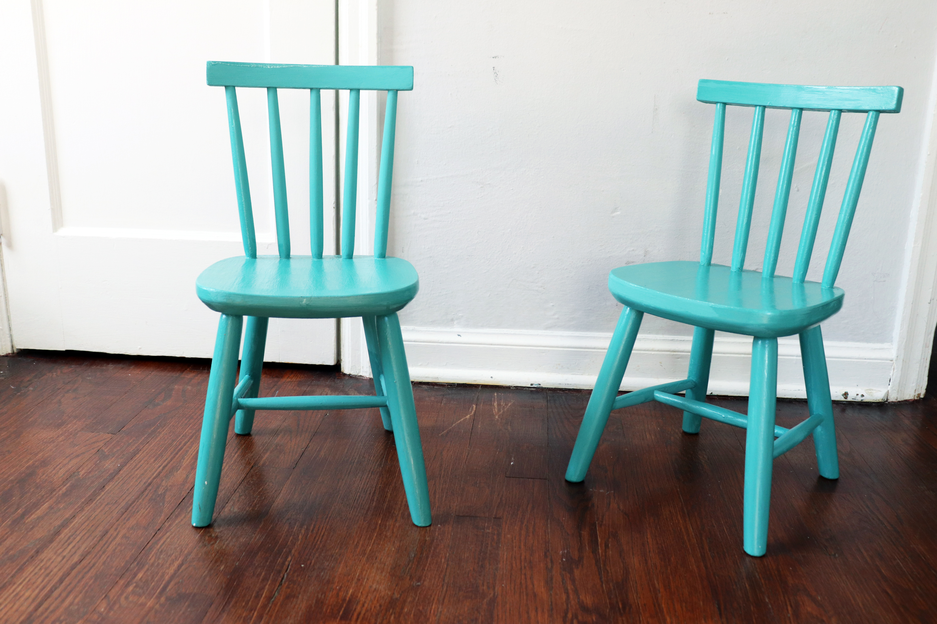 Paint a Chair with Chalk Paint Vintage IKEA Blue Chair Transformation with Good Bones Paint