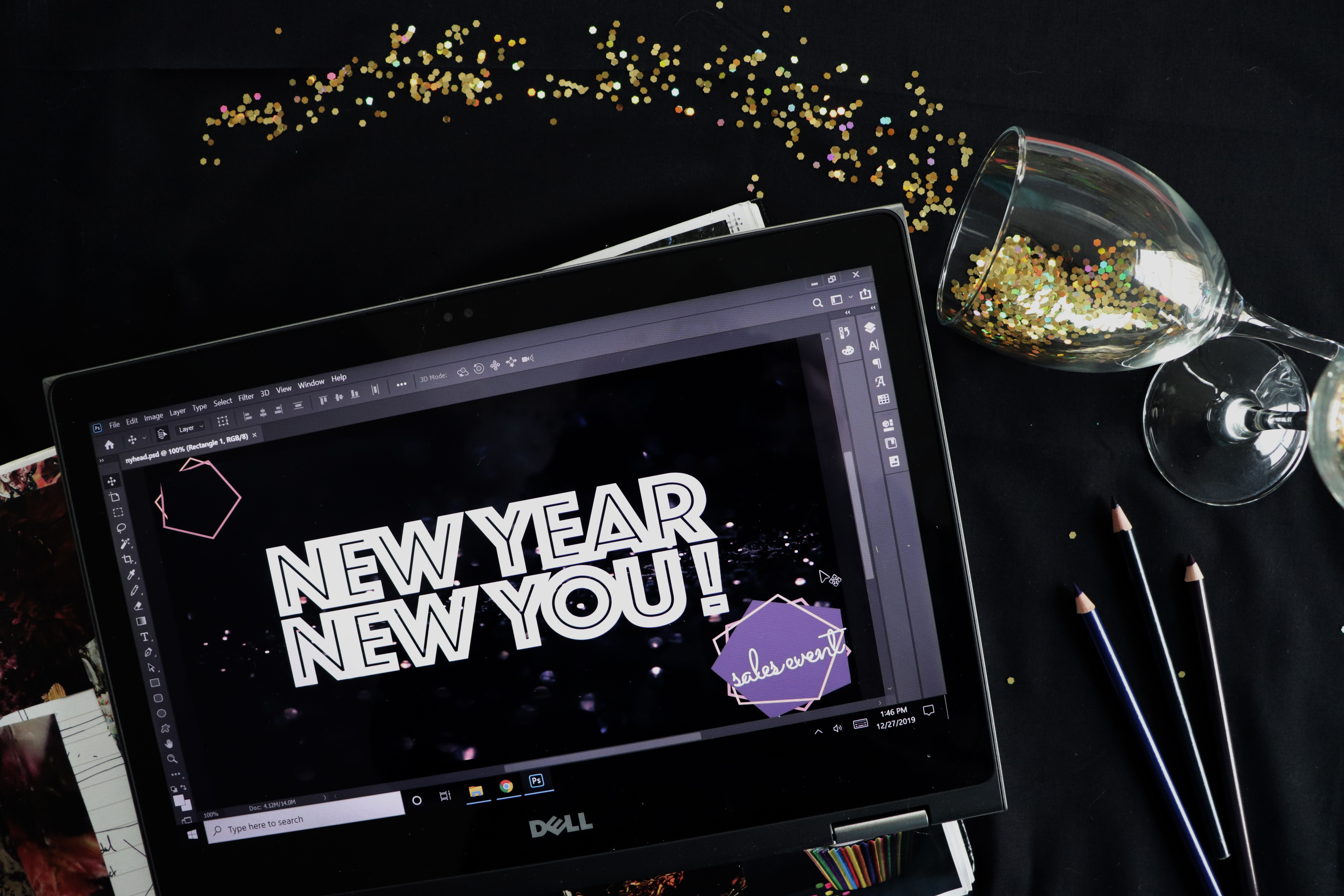 Free Sales Event Graphics: New Year Graphic