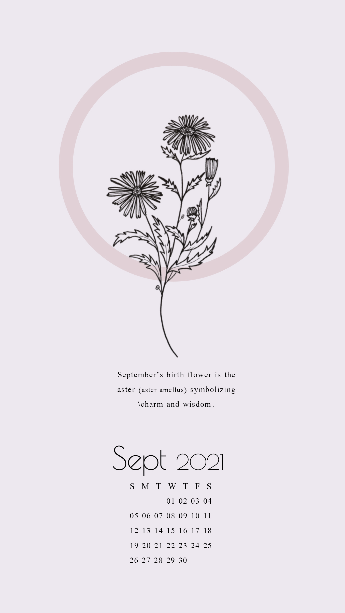 september 2021 calendar wallpaper for iphone