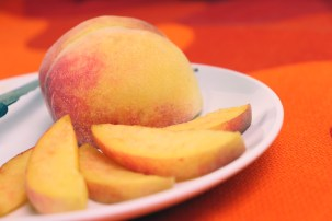 Retouched Image of a peach